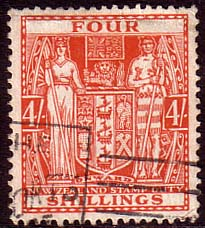 New Zealand 1931 King George V Postal Fiscal SG F 148 Fine Used