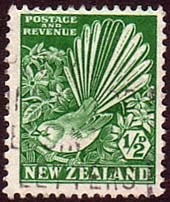 New Zealand 1935 SG 556 Collared Grey Fantail Bird Fine Used