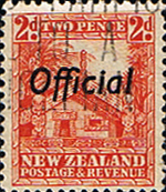 New Zealand 1936 Pictorial Official SG O123 Fine Used