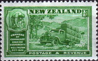 Stamp Stamps New Zealand Wellington Chamber of Commrce Conference SG 593 Fine Mint Scott 21