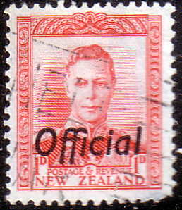 New Zealand 1938 King George VI Official SG O136 Fine Used