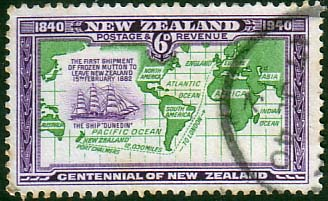 New Zealand 1940 King George VI SG 620 Fine Used Scott 237