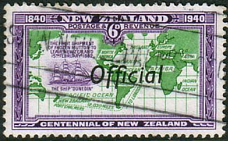 New Zealand 1940 Centennial Official SG O148 Fine Used