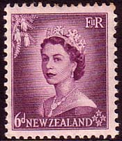 New Zealand 1953 Queen Elizabeth SG 729 Fine Mint