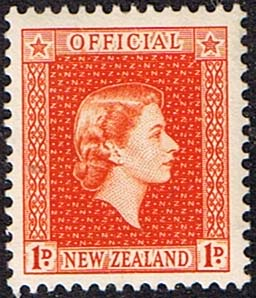 New Zealand 1954 Queen Elizabeth Official SG O159 Fine Mint