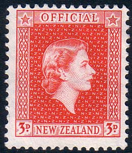 New Zealand 1954 Queen Elizabeth Official SG O163a Fine Mint