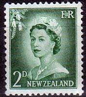 New Zealand 1955 Queen Elizabeth SG 747 Fine Mint