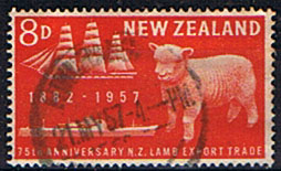 New Zealand 1957 Lamb Export SG 759 Fine Used