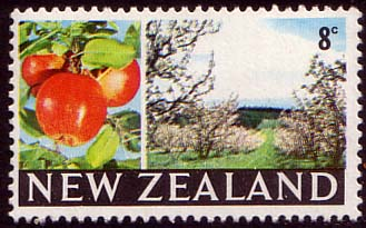 New Zealand 1967 SG 872 Apples and Orchard Fine Mint
