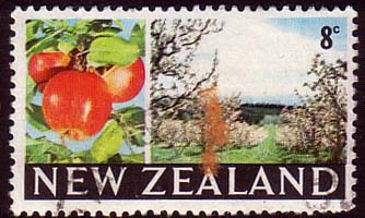 New Zealand 1967 SG 872 Apples and Orchard Fine Used
