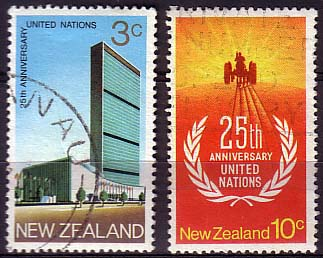 New Zealand 1970 SG 938 9 25th Anniv of United Nations Set Fine Used