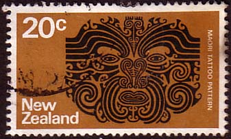 New Zealand 1973 SG1020 Maori Tattoo Fine Used