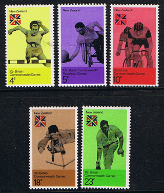 Stamps of New Zealand 1974 Tenth British Commonwealth Games Set Fine Mint