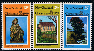 Postage Stamps New Zealand 1979 Christmas Set Fine Mint