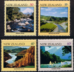 New Zealand 1981 River Scenes Set Fine Mint