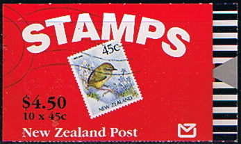 New Zealand 1991 SB 59 Birds Rock Wren Booklet Fine Mint