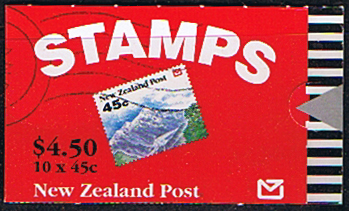 New Zealand 1992 SB 62 Landscapes Booklet Fine Mint