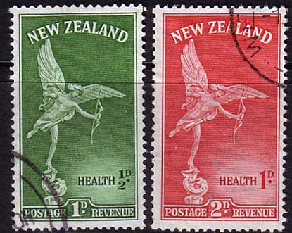 New Zealand Health 1947 Eros Set Fine Used