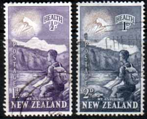 Postage Stamps New Zealand Health 1954 Young Climber Set Fine Used