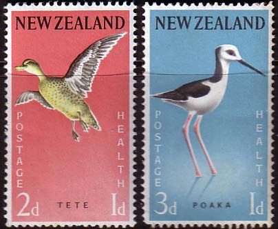 New Zealand Health Stamps 1959 Birds
