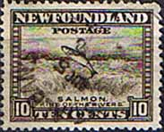 Newfoundland 1932 SG 215 Salmon King of the Rivers Fine Used