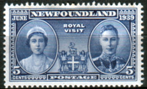 Stamps Newfoundland 1938 Royal Visit Set Fine Mint SG 272 Scott 249
