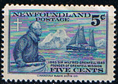 Canada Provincial Stamps Newfoundland 1941 SG 275 William Grenfell Fine Mint SG 275 Scott 256