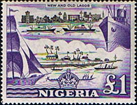 Nigeria 1953 SG 80 New and Old Lagos £1 Fine Mint