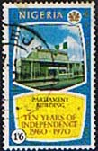 Nigeria 1970 SG 253 Parliment Building Fine Used