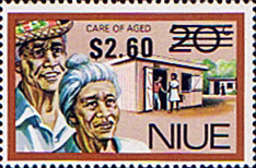 Niue Stamps 1977 Food Gathering Surcharged SG 233 Scott 212