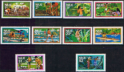 Niue Stamps 1978 Food Gathering