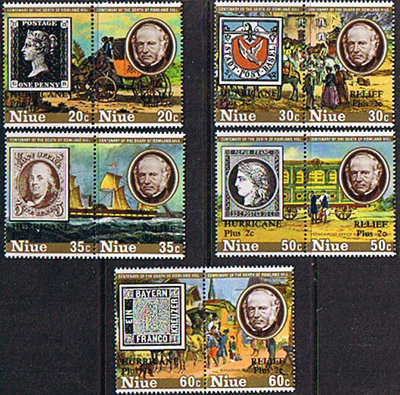 Niue Stamps 1979 Sir Rowland Hill Set
