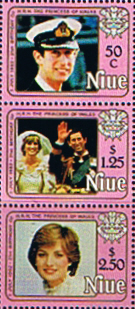Stamps Stamp 1982 Niue Diana 21st Birthday Set Fine Mint