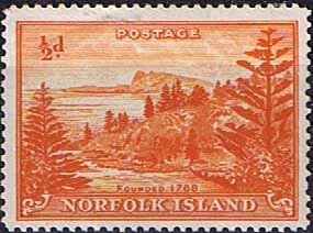 Norfolk Island 1947 Ball Bay SG  1 Fine Mint
