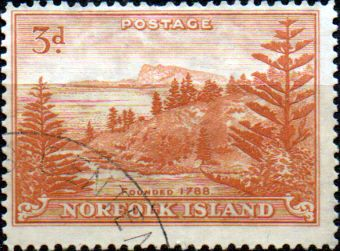 Norfolk Island 1947 Ball Bay SG  6a Fine Used