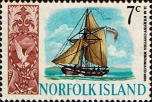 Norfolk Island 1967 Ships SG 82 Fine Mint Scott 105
