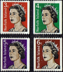 Stamps From Machine Norfolk Island 1968 Coil Stamps Set Fine Mint