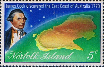 Stamps Norfolk Island 1970 Captain Cook Mint SG 118 Scott 141