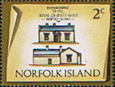Stamps Norfolk Island 1973 Historic Buildings Fine Mint SG 134 Scott 157 Royal Engineers' Office