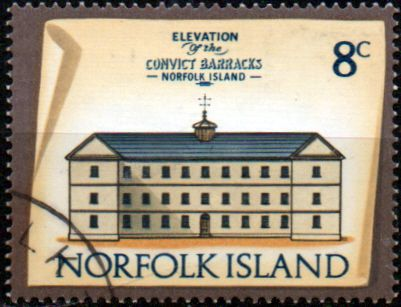 Stamps Norfolk Island 1973 Historic Buildings Fine Mint SG 139 Scott 162 Prisoners Barracks