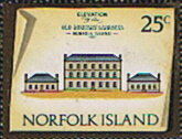Stamp Norfolk Island 1973 Historic Buildings Fine Mint SG 145 Scott 168 Old Military Barracks