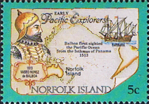 Stamps Norfolk Island 1994 Pacific Explorers Fine Mint SG 562 Scott 550