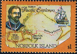 Stamps Norfolk Island 1994 Pacific Explorers Fine Mint SG 571 Scott 561