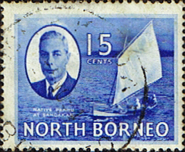 Stamps Stamp North Borneo 1950 SG 363 King George VI Fine Used Scott 251