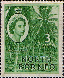 Stamp Stamps North Borneo 1954 SG 374 Queen Elizabeth II Fine Used Scott 263