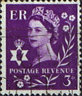 GB Regional Stamps Northern Ireland 1958 Queen Elizabeth SG Scott 1 Fine Used