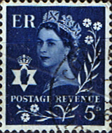 Northern Ireland 1968 Queen Elizabeth SG Scott 10 Fine Used