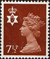 Stamps Northern Ireland 1971 Queen Elizabeth Machin SG NI 23 Scott NIMH 9 Fine Mint