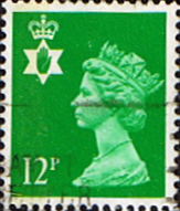 Northern Ireland 1971 Queen Elizabeth Machin SG NI 35 Scott NIMH 18 Fine Used Regional Postage Stamps