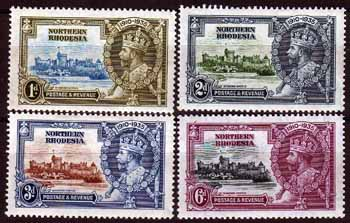 Northern Rhodesia Stamps 1935 King George V Silver Jubilee